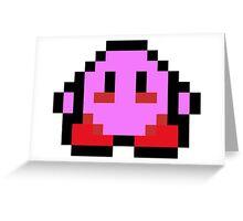 Pixel Kirby Greeting Card