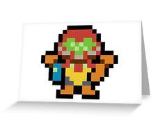Pixel Samus Aran Greeting Card