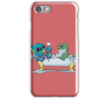 Kraken & Loch Ness in the Bathtub w/ BG iPhone Case/Skin