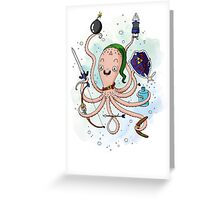 Linktopus the Link Octopus Greeting Card