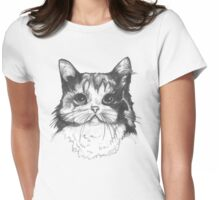 Hey there Kitty Cat!! Womens Fitted T-Shirt