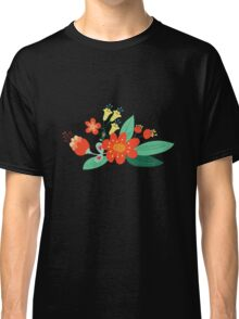 Flowers and hearts Classic T-Shirt