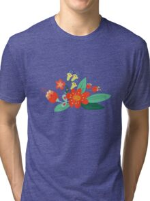 Flowers and hearts Tri-blend T-Shirt