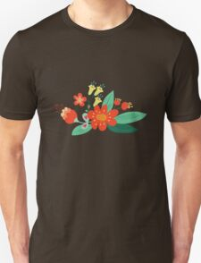 Flowers and hearts Unisex T-Shirt