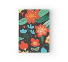 Flowers and hearts Hardcover Journal