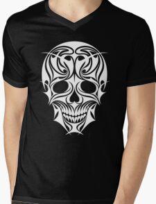 Abstract Scull Illustration Mens V-Neck T-Shirt
