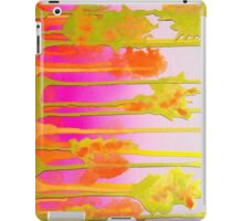 Pink Yellow Abstract Trees Landscape iPad Case/Skin