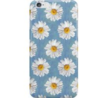 Daisy Blues - Daisy Pattern on Cornflower Blue iPhone Case/Skin
