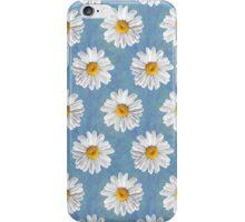 Daisy Blues - Daisy Pattern on Cornflower Blue iPhone Case/Skin