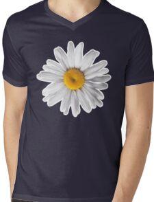 Daisy Blues - Daisy Pattern on Cornflower Blue Mens V-Neck T-Shirt