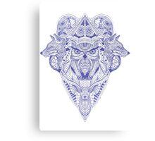 Blue Animal Ink Canvas Print