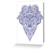 Blue Animal Ink Greeting Card