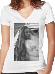 Ok ladies, now let's get in formation!  Women's Fitted V-Neck T-Shirt