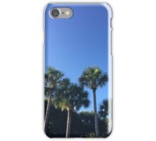 palm trees in paradise  iPhone Case/Skin