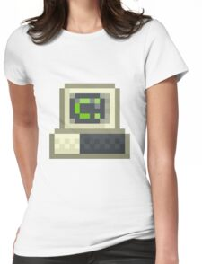 Pixel IBM PC Womens Fitted T-Shirt