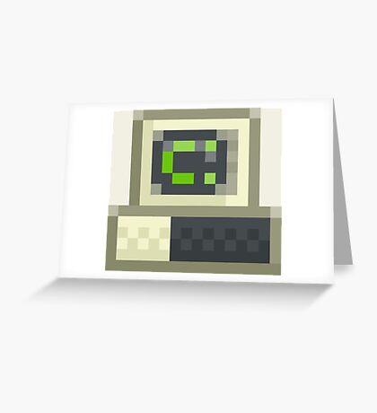 Pixel IBM PC Greeting Card