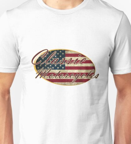 Classic USA Motorcycles Design Unisex T-Shirt