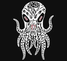Tribal Cthulhu (White) One Piece - Short Sleeve