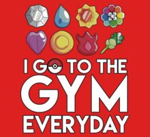 Pokemon - I GO TO THE GYM EVERY DAY - Transparent Kids Tee