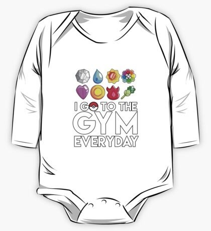 Pokemon - I GO TO THE GYM EVERY DAY - Transparent One Piece - Long Sleeve