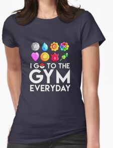 Pokemon - I GO TO THE GYM EVERY DAY - Transparent Womens Fitted T-Shirt