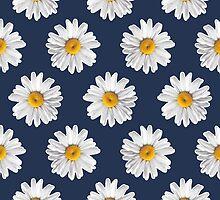 Daisy Blues #2 - Daisy Pattern on Navy by Tangerine-Tane