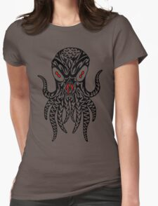 Tribal Cthulhu Womens Fitted T-Shirt