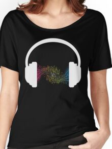 Symphonic in white Women's Relaxed Fit T-Shirt