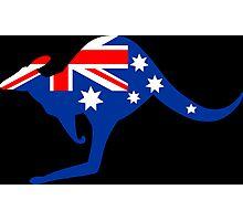 Australian Kangaroo Flag Photographic Print