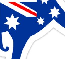 Australian Kangaroo Flag Sticker