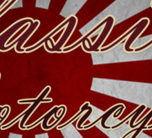 Classic Japanese Motorcycle Design Sticker