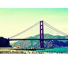 Lazy San Francisco Afternoon Gazing Upon The Golden Gate Bridge Photographic Print