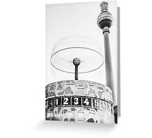 Urania world clock and Berlin TV Tower Greeting Card