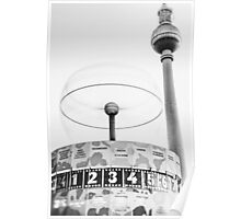 Urania world clock and Berlin TV Tower Poster