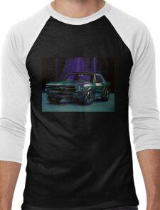Ford Mustang 1967 Painting Men's Baseball ¾ T-Shirt