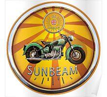 Sunbeam Vintage British Motorcycles UK Poster