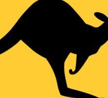 Australian Kangaroo Sign Sticker