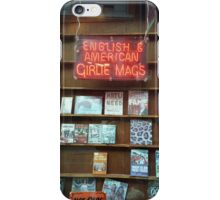 English & American Girlie Mags - Neon Window Signage, Manchester iPhone Case/Skin