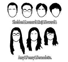 Everyone - Big Bang Theory Photographic Print