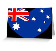Heart Shaped Australian Flag Greeting Card
