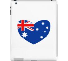 Heart Shaped Australian Flag iPad Case/Skin