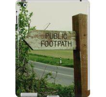 Public Footpath diptych iPad Case/Skin