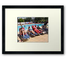Santa's  Not coming This Year-  Hes in Zante, Greece Framed Print