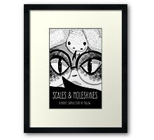 Scales & Moleskines cover art Framed Print