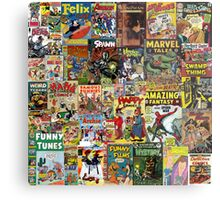 Comic Book Cover Collage Metal Print