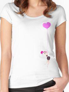 Mitzi Heart Balloon Women's Fitted Scoop T-Shirt