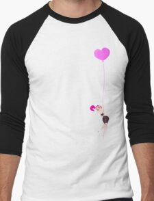 Mitzi Heart Balloon Men's Baseball ¾ T-Shirt