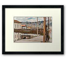 Square at Historic Center of Quito Ecuador Framed Print