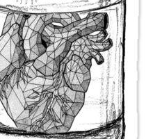 Heart in a Jar  Sticker
