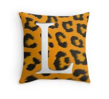L is for Leopard Throw Pillow